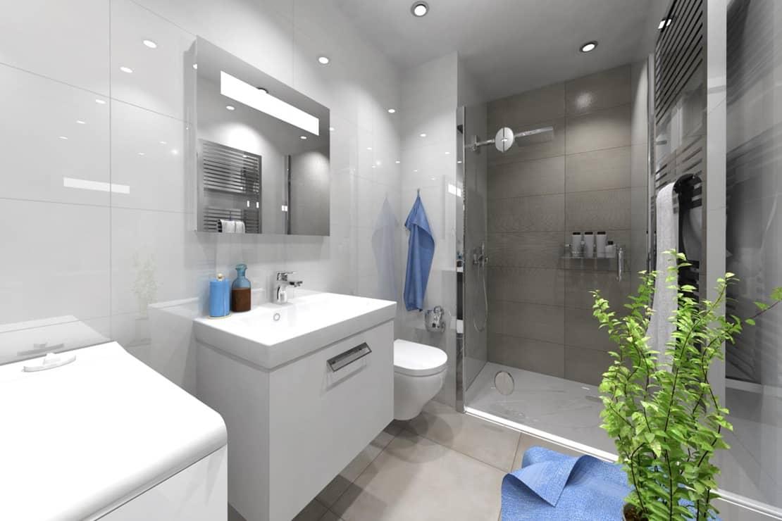 3D návrhy malých koupelen nejsou velký problém