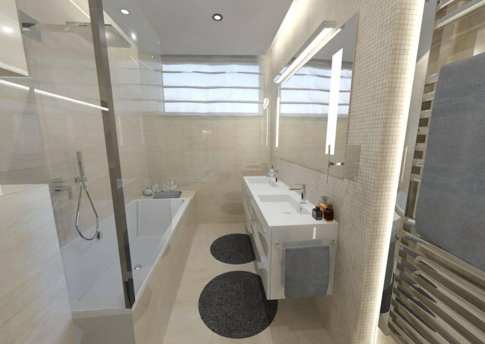 3D návrhy malých koupelen nejsou velký problém slide 1