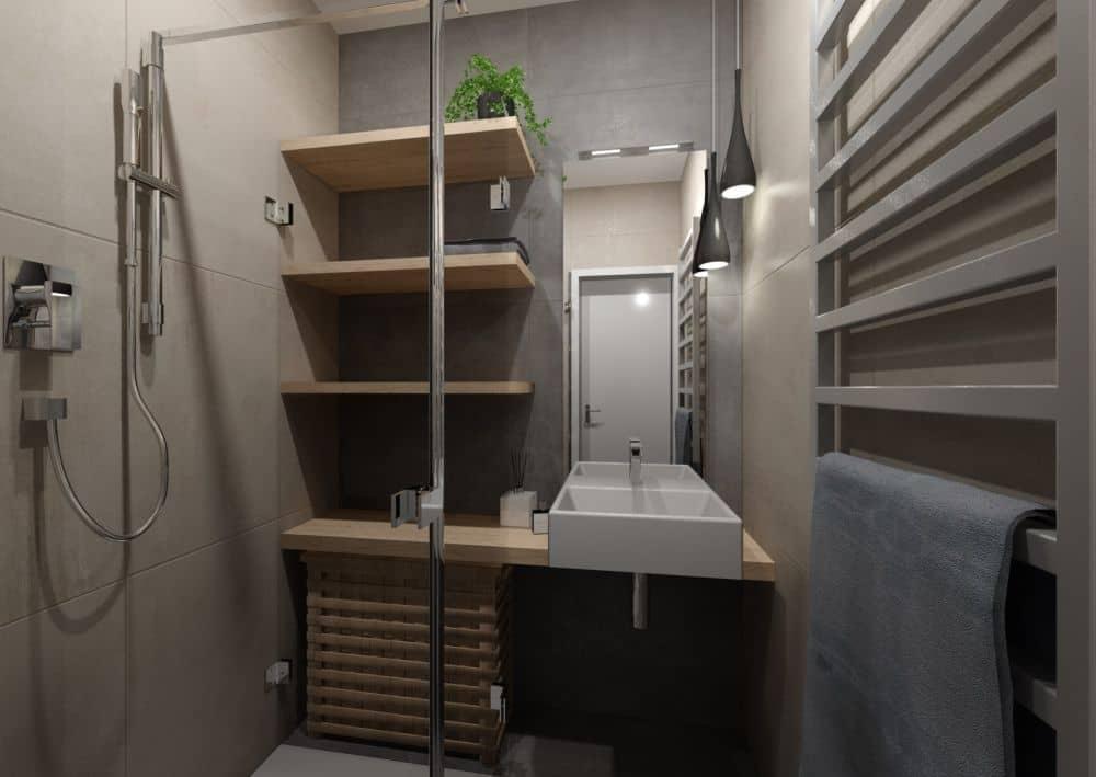 3d návrh malé koupelny centrum křižíkova