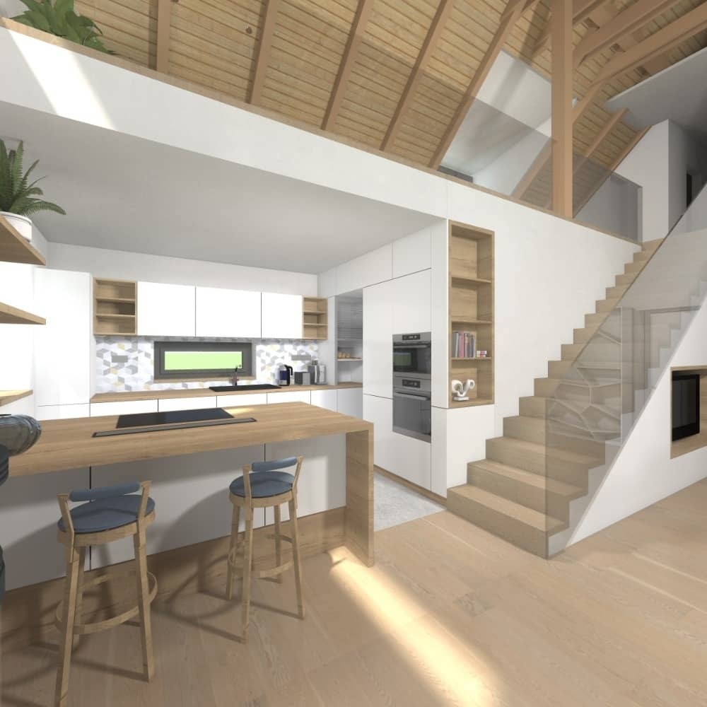 Centrum bydlení Křižíkova Heluz vizualizace dům